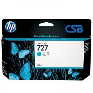 CARTUCHO HP727 CY. 130ML B3P19A